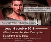 Révoltes & révolutions – 04/10/2018