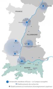 Image Carte Eucor -Le Campus européen