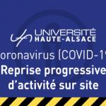 Reprise progressive de l'activité sur site pour l'UHA